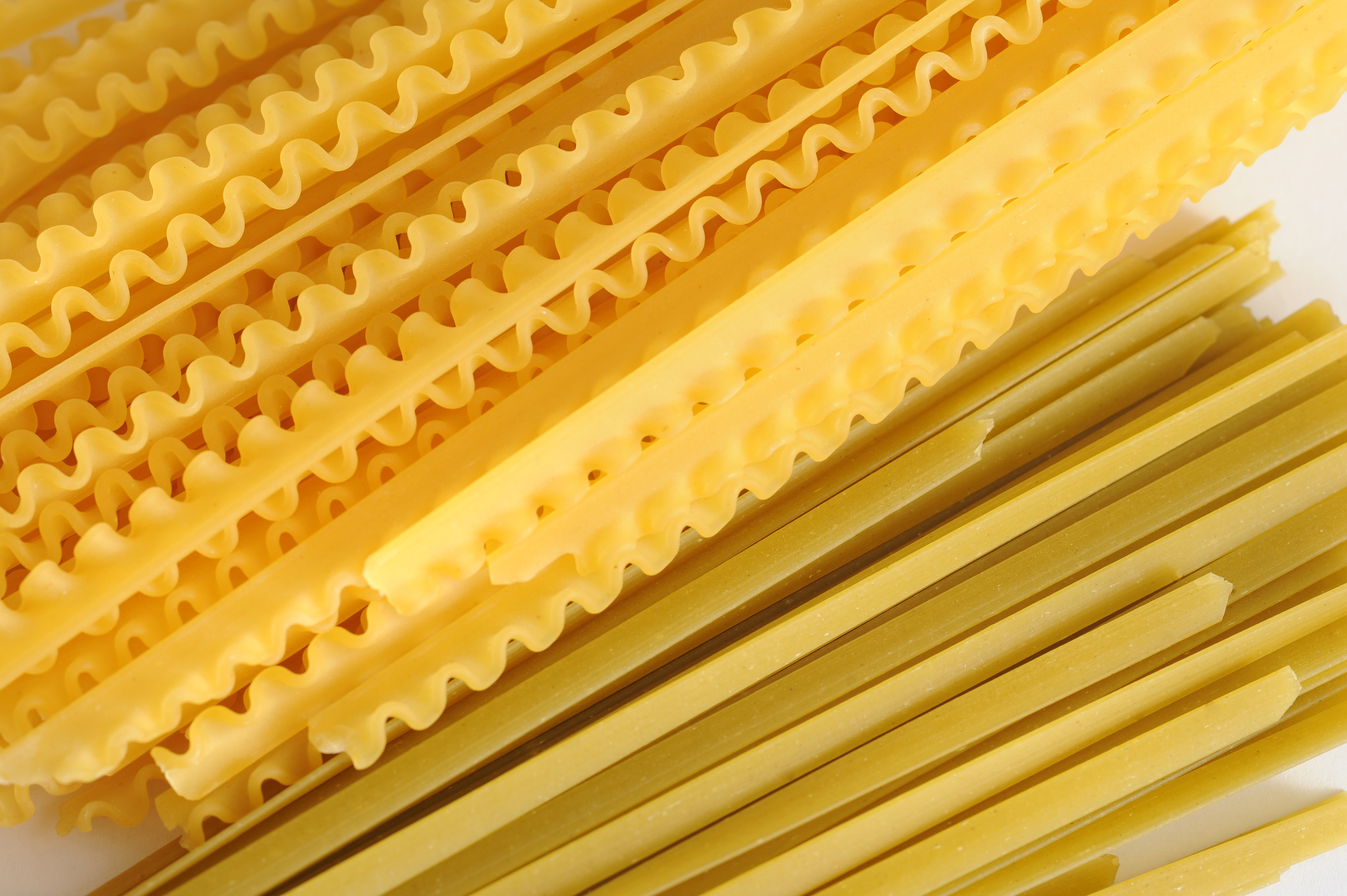 Large Stacks of Variety Dried lasanga and spagetti Pasta