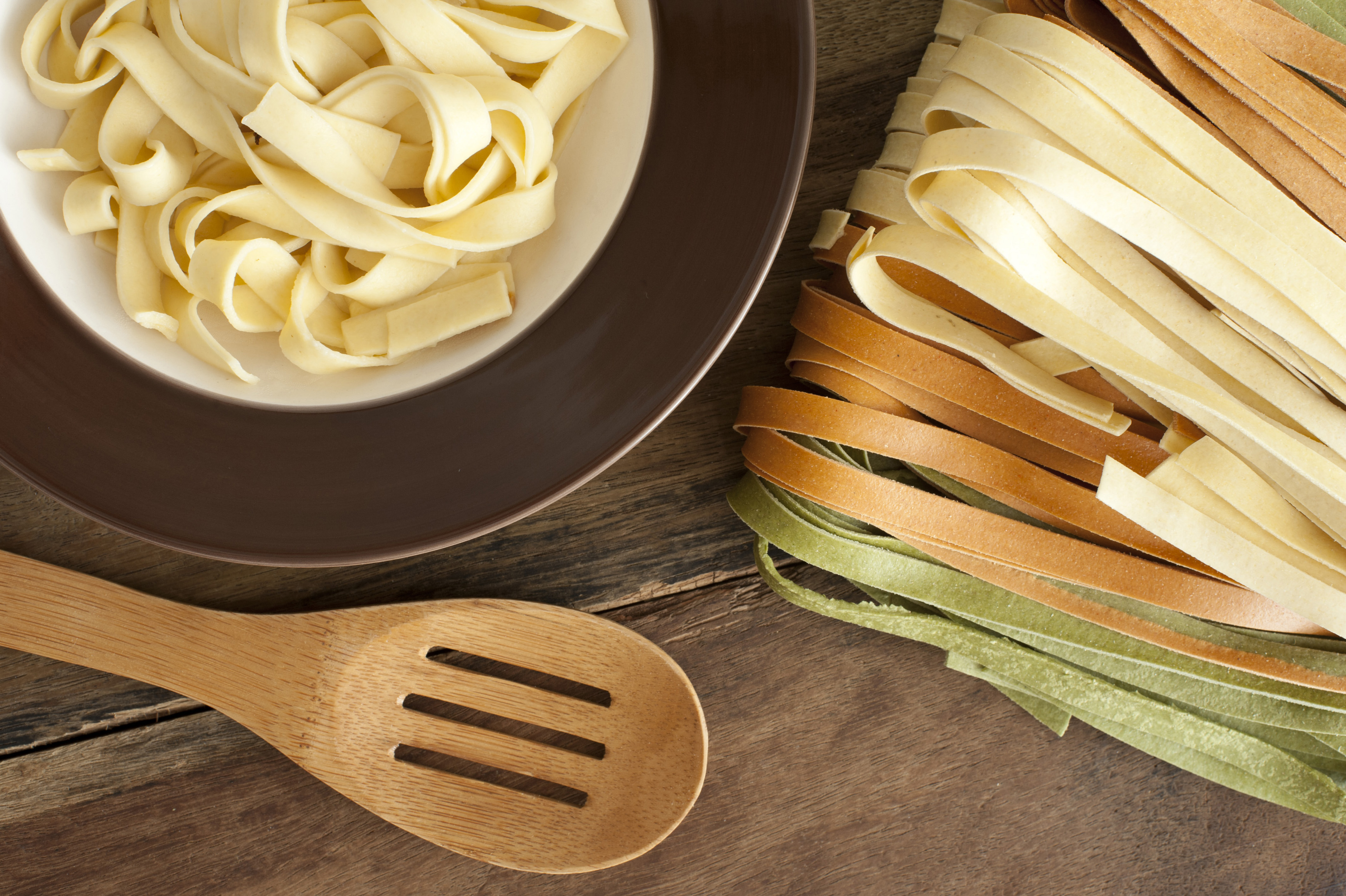 Background Beige Close Up Colorful Cooked Different Dinner Dish Fettuccini Food Green Healthy Homemade Horizontal Ingredient Italian Kitchen Long Orange