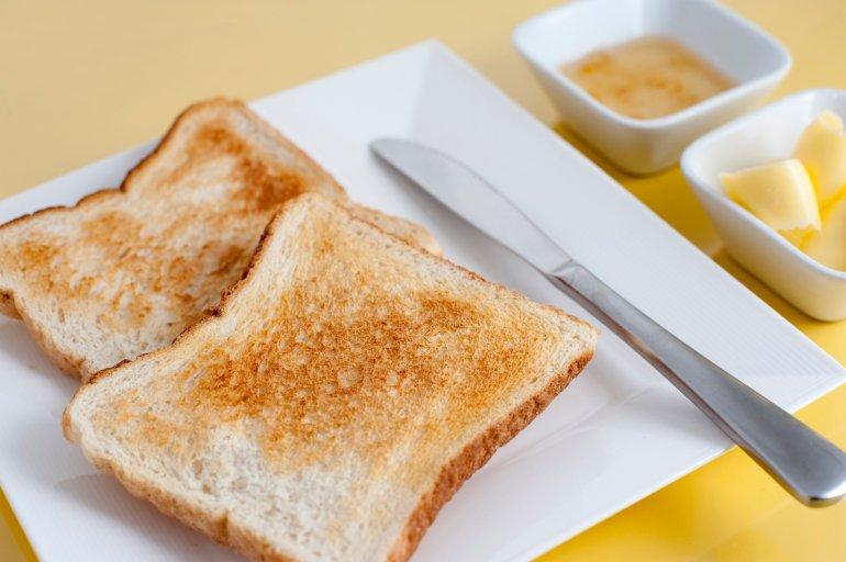 White Toast Free Stock Image