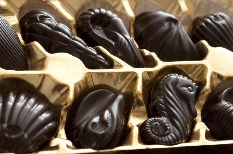 Dark Chocolates Free Stock Image