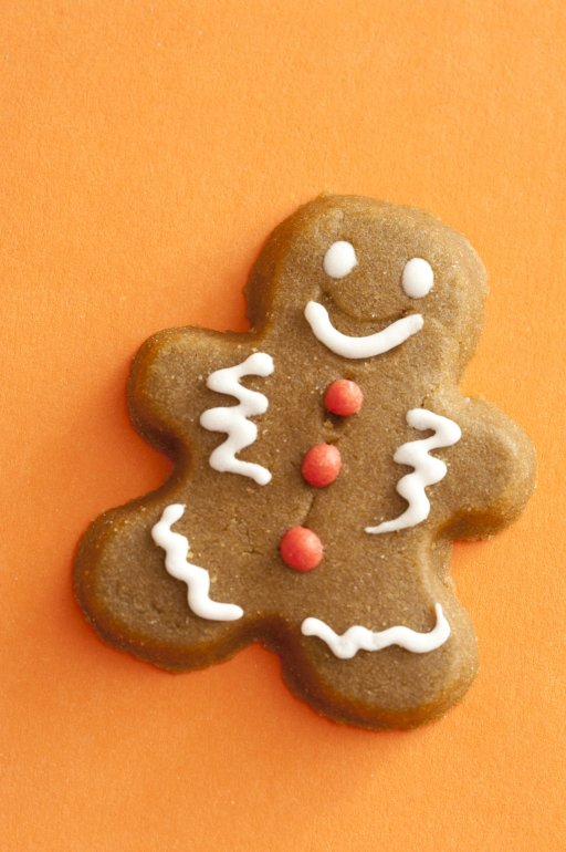 Gingerbread Cookie On A Festive Orange Background Free