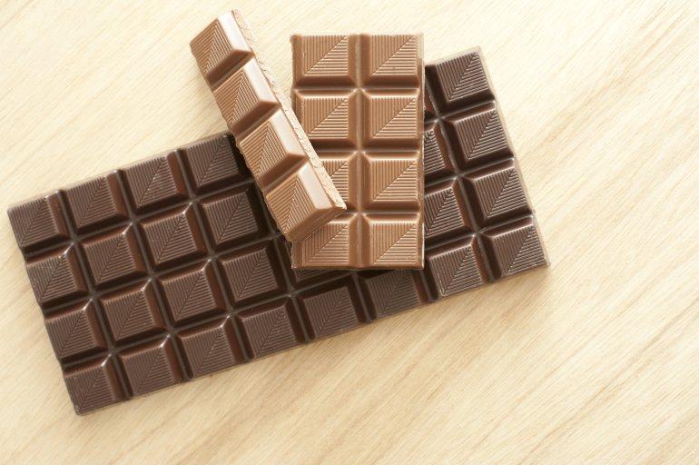 Bars Of Milk And Dark Chocolate Free Stock Image