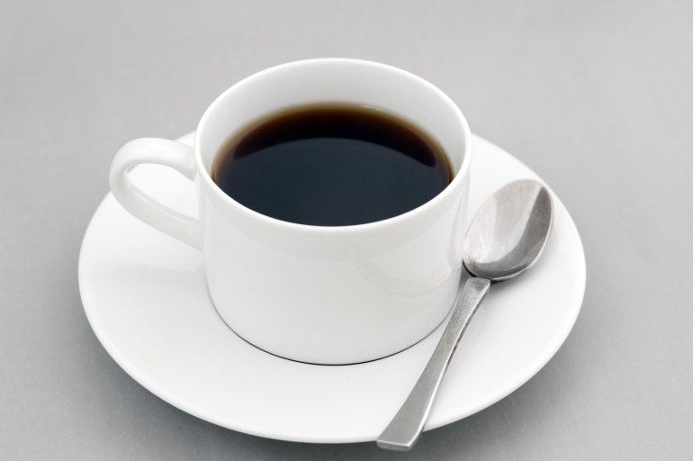 cup of strong black espresso coffee