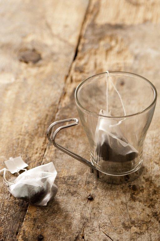 Glass Mug With Teabags Free Stock Image