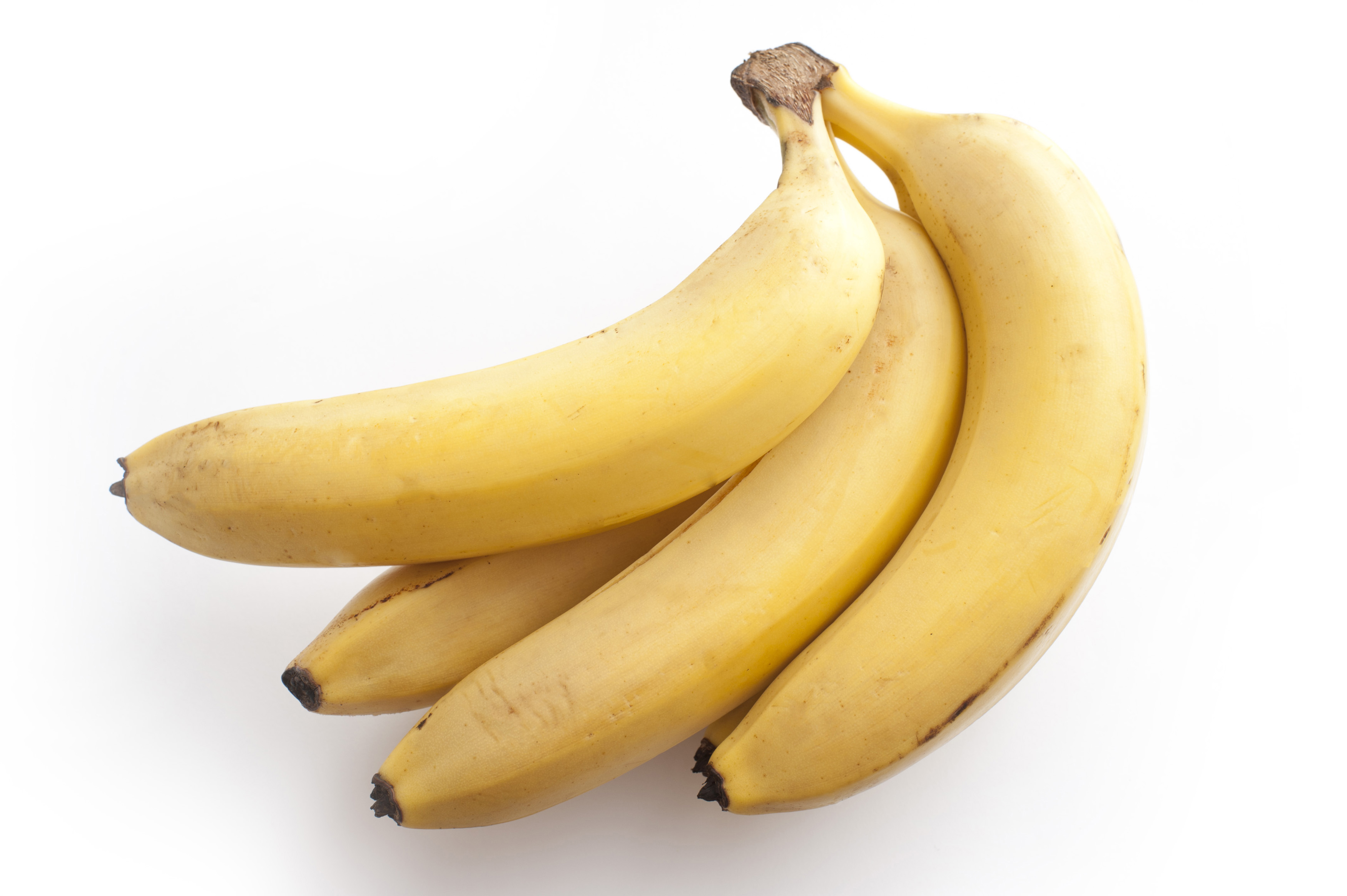 Bunch of bananas on white background. Isolated