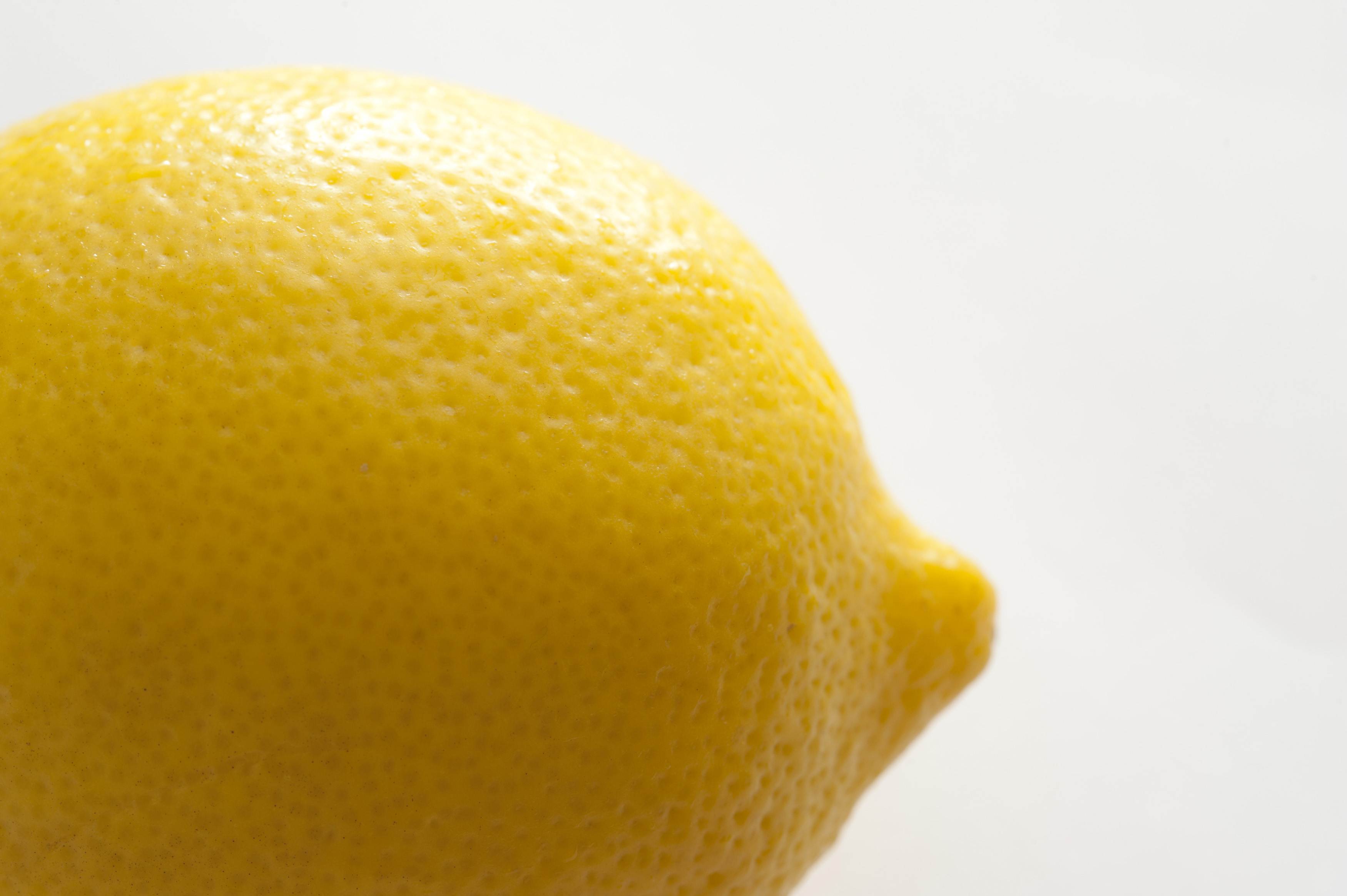 A lemon on a white background