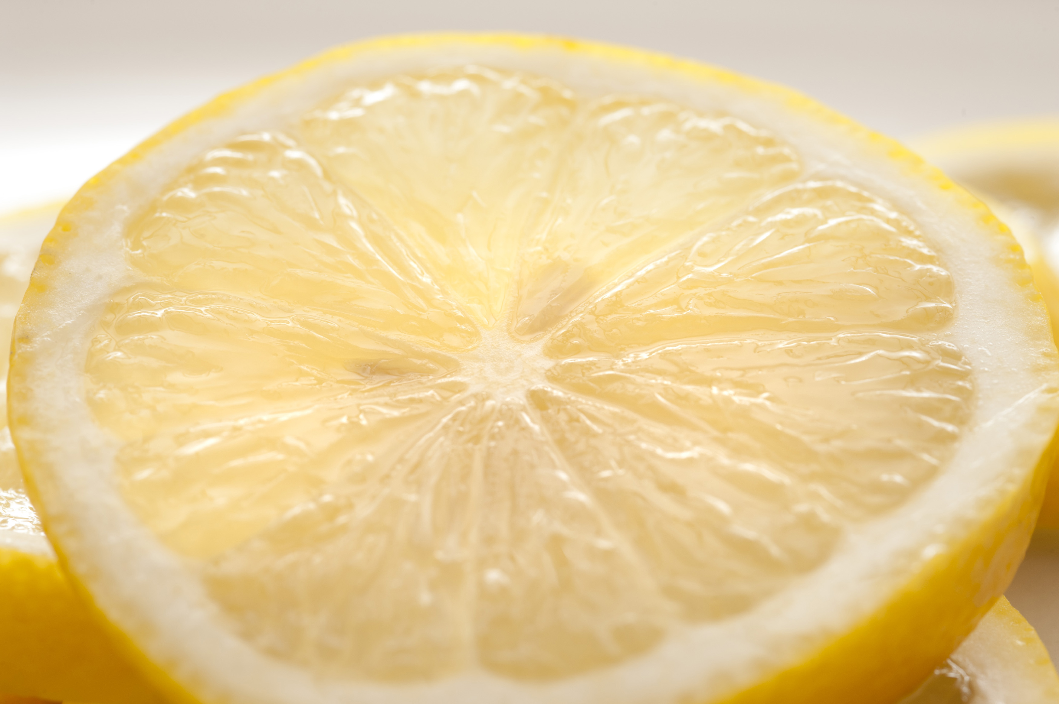 a thin slice of zesty lemon