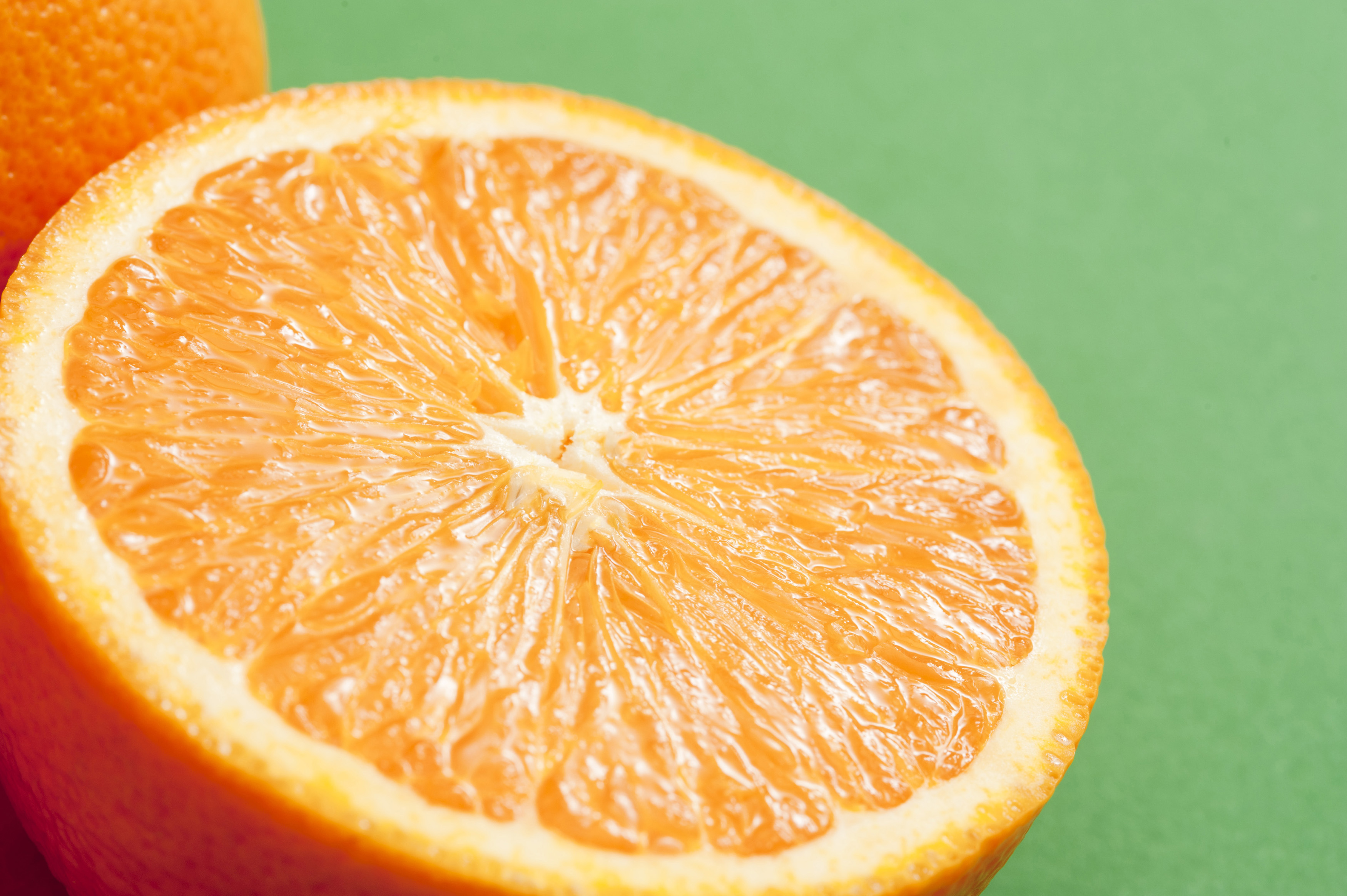 Close-up of half of juicy orange