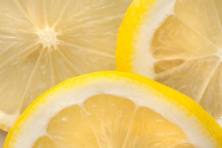 several sections of lemon