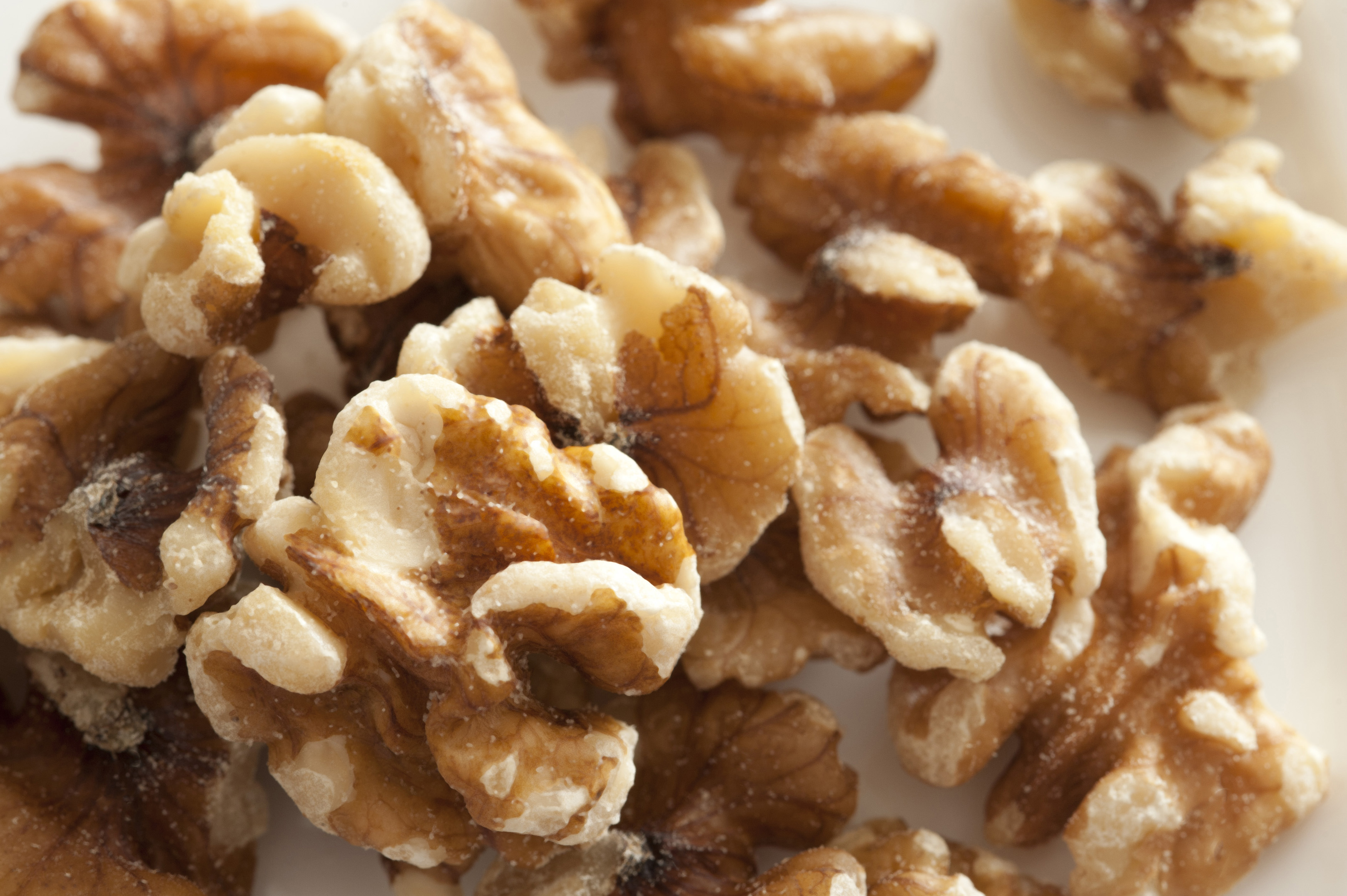 Close-up of heap of walnuts