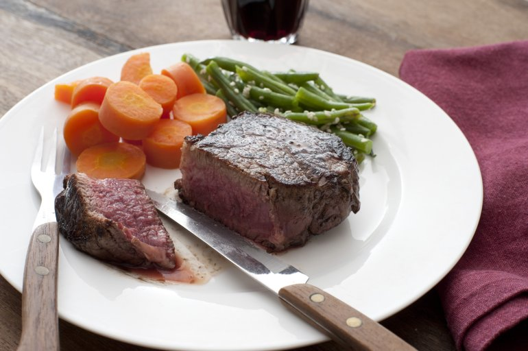 Delicious Medallion Of Thick Juicy Fillet Steak Free