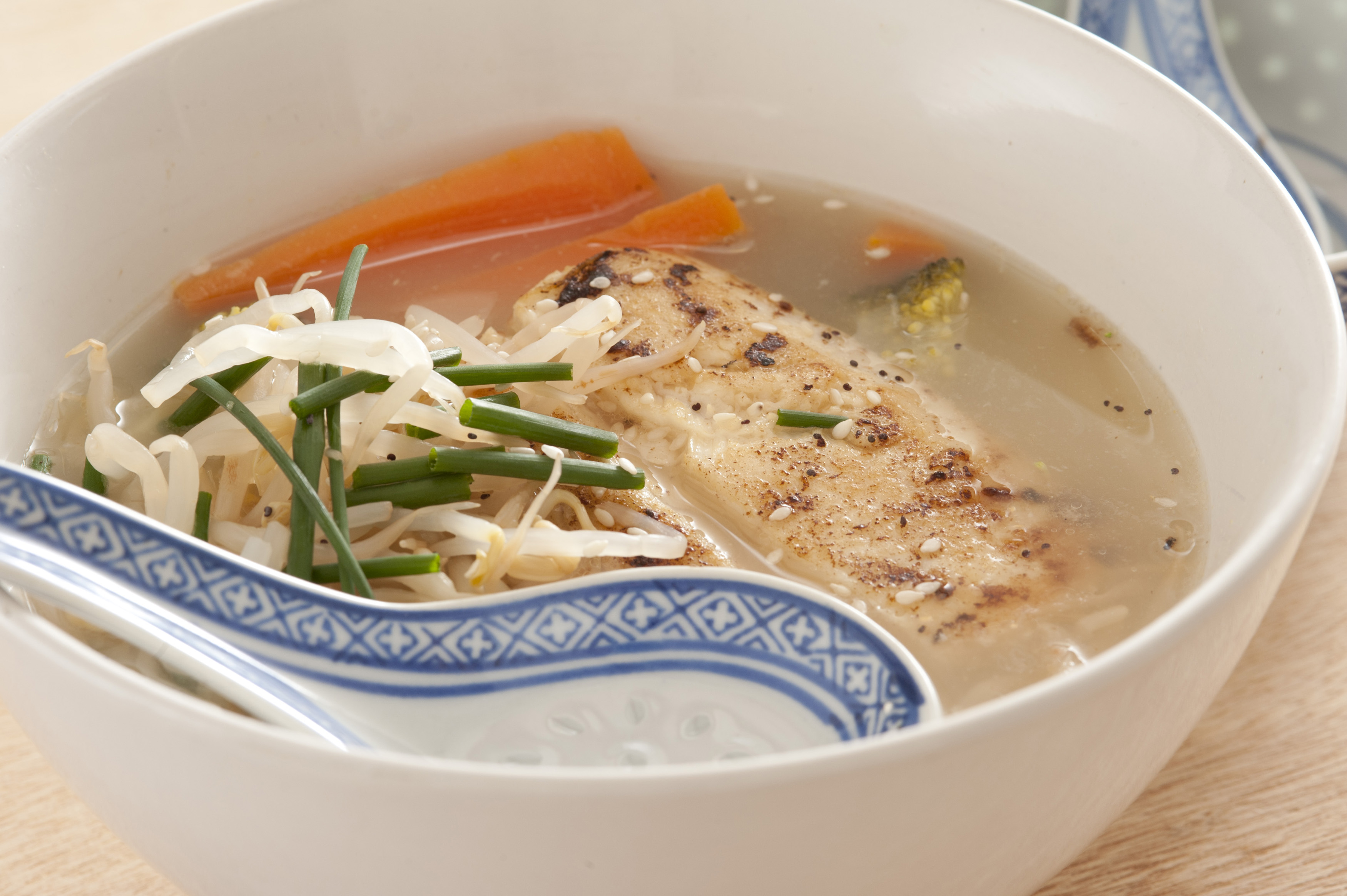 asian style fish broth made with milkfish