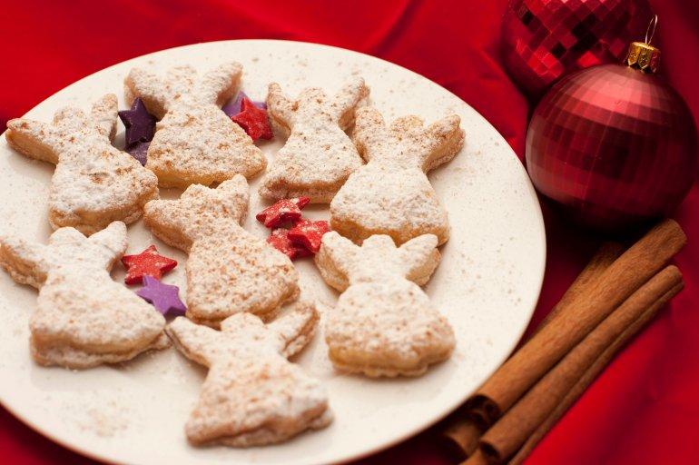 Freshly Baked Angel Christmas Cookies Free Stock Image
