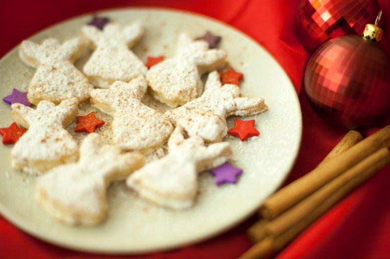 Angel Christmas Cookies Free Stock Image