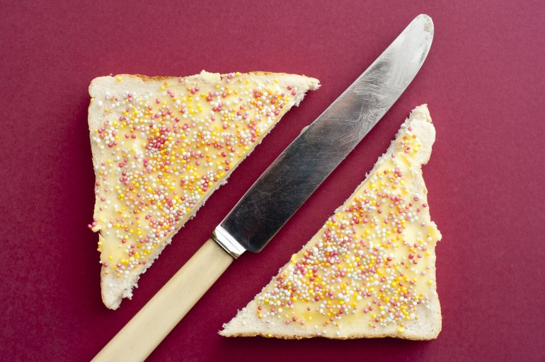 Butter Knife And Fairy Bread Free Stock Image